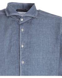Paolo Fiorillo Capri Shirt In Melange - Blue