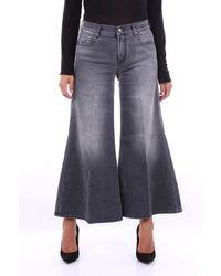 Jacob Cohen Dark Grey Cropped Jeans Mod. Floracrop - Blue