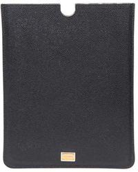 Dolce & Gabbana Leather Ipad Case - Black