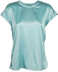 Pinko Women's 1g15s1zr64e53 Light Blue Silk Blouse