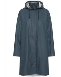 Ilse Jacobsen Light A-line Raincoat Orion - Blue