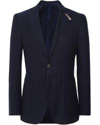 Baldessarini Cotton Twill Murello-3at Jacket Colour: Navy - Blue