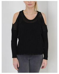 Replay Cold Shoulder Knitwear Colour: Black