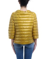 Herno - Reversible Ultralight Yellow Down Jacket - Lyst