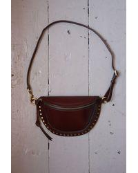 Étoile Isabel Marant Skano Burgundy Leather Cross-body Bag - Brown