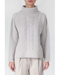 Tabaroni Cashmere Sweater With Braids - Multicolour