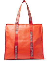 Heron Preston Oversize Logo Tote Bag Bags > Tote Bags Woman - Orange