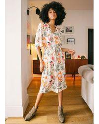 Pyrus Clemence Shirred Waist Dress - Multicolour