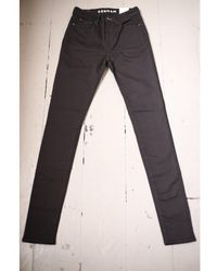 Denham Needle Black High Rise Skinny Jeans
