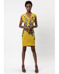 Religion Inverted Dress - Yellow