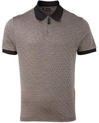 Brioni Silk & Cotton Polo ( / Beige) - Black