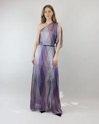 Cecilia Prado Disco Asymmetric Dress - Purple
