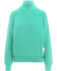 Sunnei Ribbed Sweater - Green