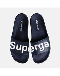 Superga Puu Sliders Blue Navy / White
