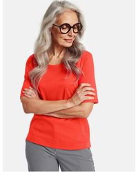 Gerry Weber Red/orange T Shirt In Organic Cotton