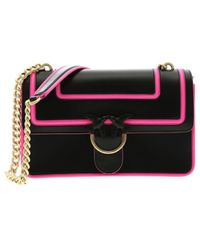 2cd95ffe60 Pinko - Love Fluo Bag In Black Leather - Lyst