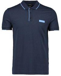 BOSS Athleisure Boss Paul Batch Polo Shirt - Blue