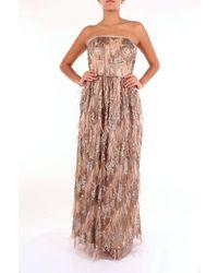 Clips Dress Long Women Bronze - Metallic