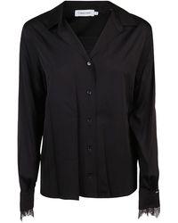 Calvin Klein Viscose Shirt - Black
