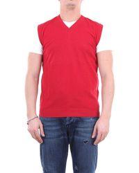 Zanone Knitwear V-neck - Red