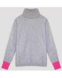 Cocoa Cashmere Gray Sloan Sweater Cc3284