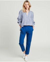Hartford Canyon Striped Linen Shirt - Blue