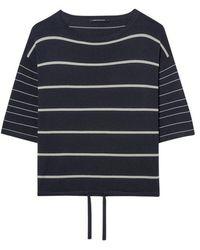 Luisa Cerano Stripe Sweater With Waist Drawstring 118703/5876 - Blue