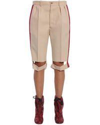 Maison Margiela Women's S29mu0026s48338108 Beige Wool Shorts - Brown