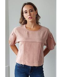 Eve Gravel Ever After Top In Dusty - Pink