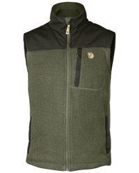 Fjallraven - Fjallraven Buck Fleece Vest Laurel Green/deep Forest - Lyst