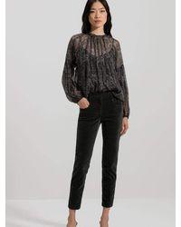 Luisa Cerano Dark Khaki Denim Jeans 648347/2150 - Black