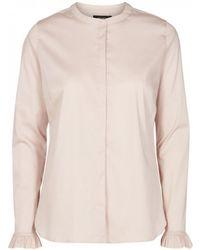 Atterley Mos Mosh Mattie Stretch Cotton Shirt - Pink