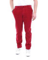 Incotex Trousers Regular Men Red