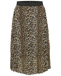 Soaked In Luxury Eteri Skirt Leopard - Multicolour