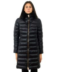 Herno Elisa Long Down Jacket Black