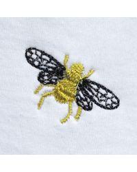 INGMARSON Bee Embroidered T-shirt White Women