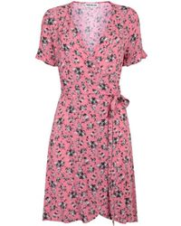 Teoh & Lea Wrap Floral Print Coral - Pink