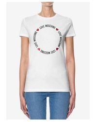 Love Moschino Circle Tee Colour: White - Black