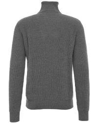 Roberto Collina Sweater With Zip - Gray