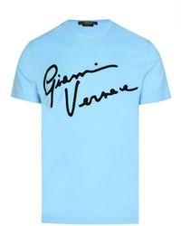 Versace Gv Signature T-shirt - Blue
