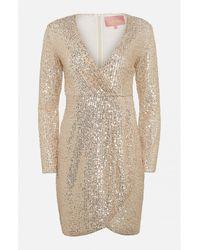 Amuse Society Amuse Gold Merci Sequin Dress - Metallic