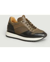 By Malene Birger Loula Faux-leather And Fabric Running Sneakers Hunt - Brown