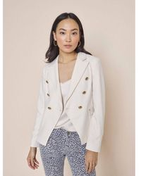 Mos Mosh Outlet Beliz Twiggy Double Breasted Blazer - White