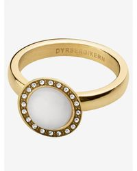 Dyrberg/Kern Valley Semi-precious Stone Diamante Ring White