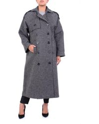 ACTUALEE Outerwear Long And Grey - Black