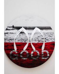 PS by Paul Smith White 'good' 'disc' Flip Flops - Multicolour