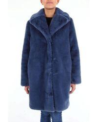be Blumarine Fur Coats Fur Coats Women Avion - Blue