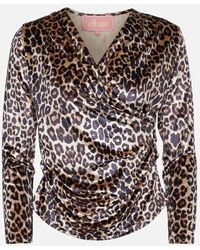 Amuse Society Amuse Pandora Leopard Top - Brown