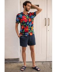 Russell Athletic Bradley Navy Shorts - Blue