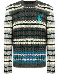 Off-White c/o Virgil Abloh Men's Omhe044e20kni0010645 Multicolour Wool Jumper
